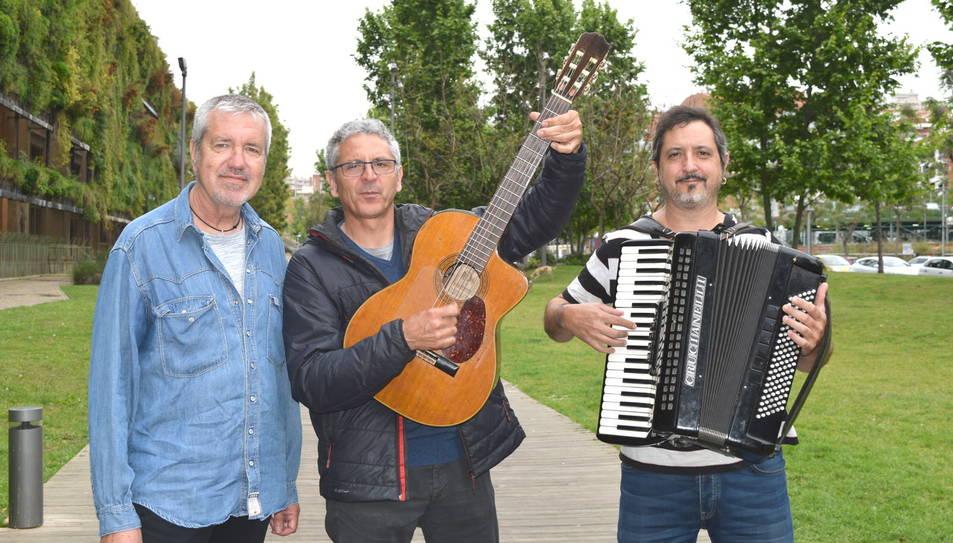 Artur Gaya, Jordi Fusté i Josep Lanau, membre de els Quicos, ahir a Tarragona.