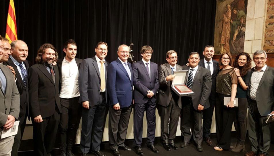 L'alcalde de Reus, Carles Pellicer, i del regidor d'Esports, Jordi Cervera, han assistit a l'acte.