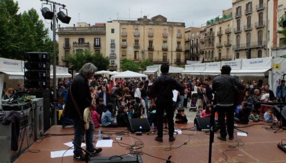 Una imatge d'una edició passada del 'Music Valls Va de Vins'.
