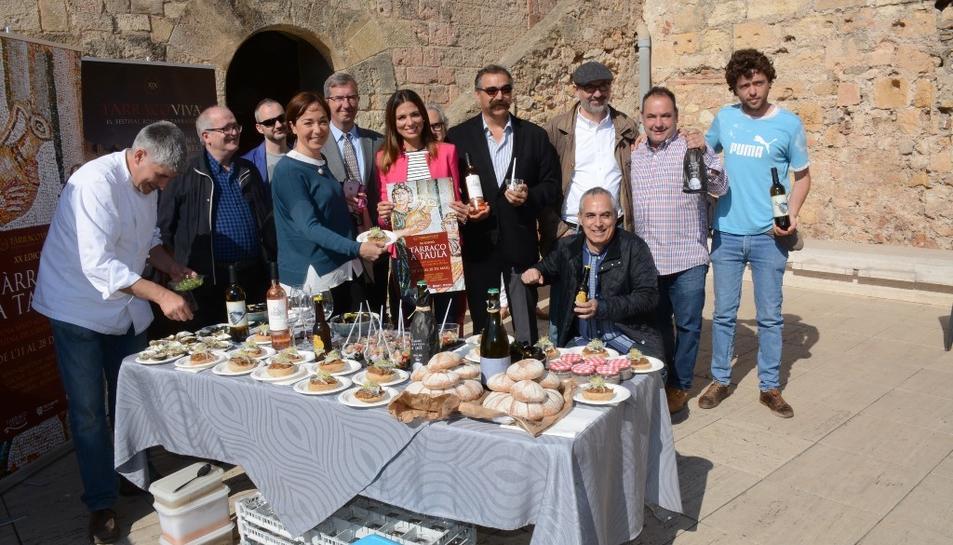 Imatge de la presentació de la 20a edició del Tarraco a Taula.