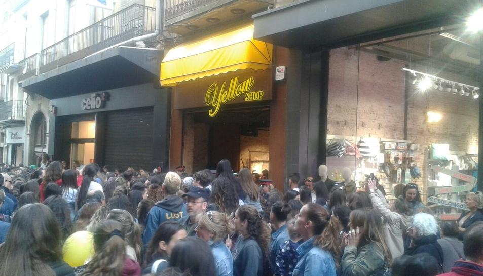 Gran aglomeració de gent a Reus.