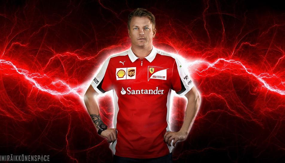 El pilot de la Scuderia Ferrari Kimi Raïkkönen.