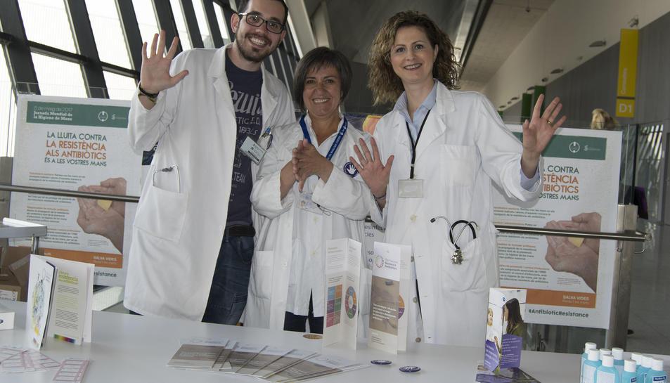 Celebració del Dia Mundial de la Higiene de Mans al Sant Joan de Reus.