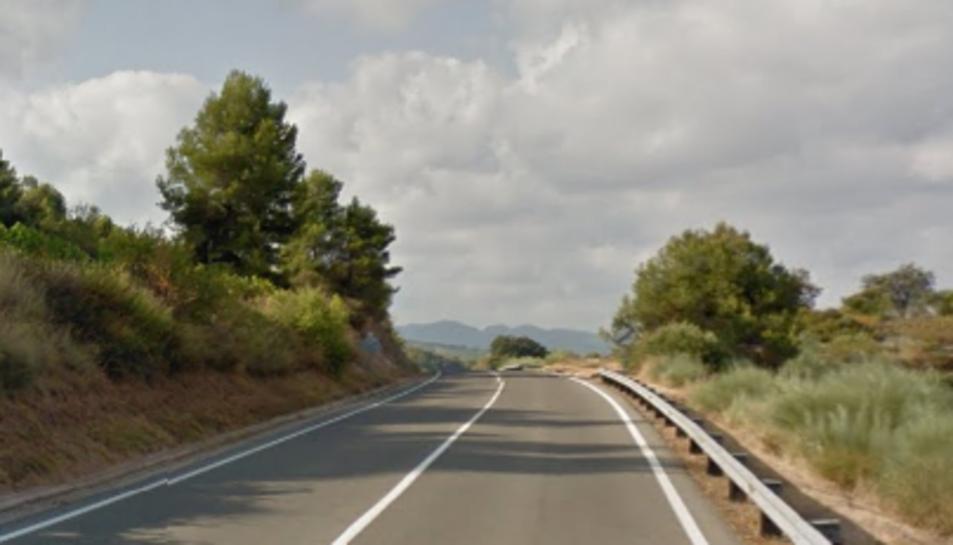 Aquesta és la carretera on es va produir l'accident.