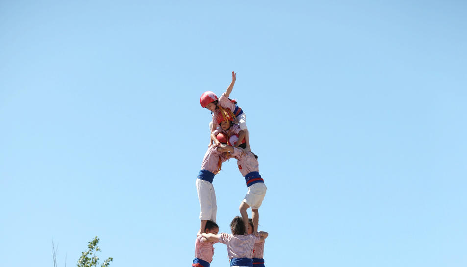 El 3 de 8 dels Xiquets de Tarragona a l'Antic Escorxador.