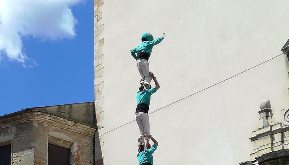 El pilar de 6 dels Castellers de Sant Pere i Sant Pau.