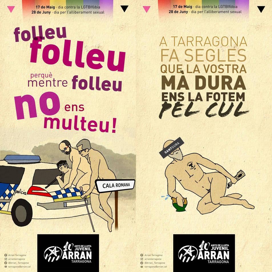 Dos dels cartells de la campanya