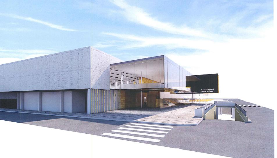L'avantprojecte recull aquestes recreacions de la façana, l'interior de l'edifici, el futur vestíbul i la sala polivalent que tindrà el Centre Comercial Mercat de Salou.