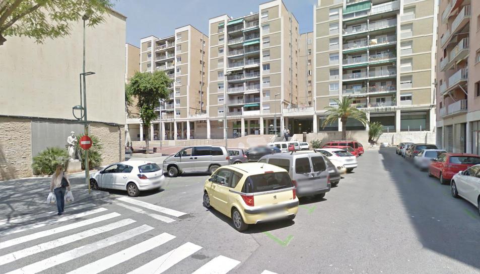 Zona on es van produir els actes vandàlics contra els vehicles.