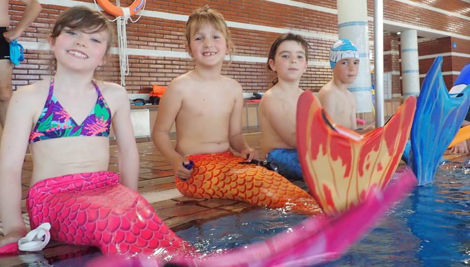 Els infants van poder gaudir de l'experiència durant la inauguració.