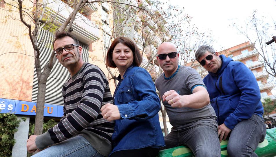 Ramon Cuenca, Puri Pedrola, Carles García i Evan Dedes (falta Héctor Mir, cinquè membre del grup).