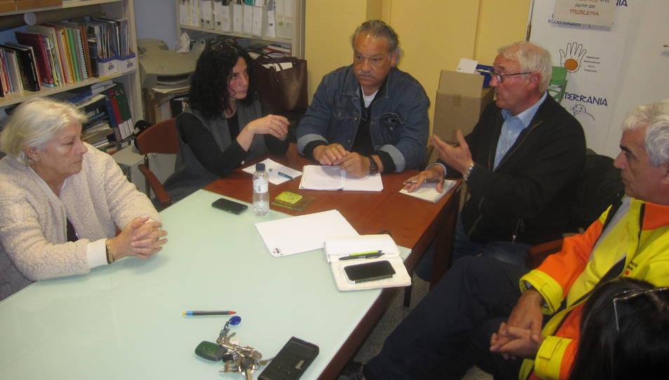 Juárez, en la reunió que va mantenir fa menys d'un mes amb representants del sector sanitari.
