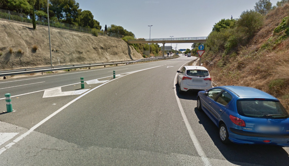 La sortida des de l'Avinguda Catalunya cap a l'A7 és una de les que s'hauria d'allargar.