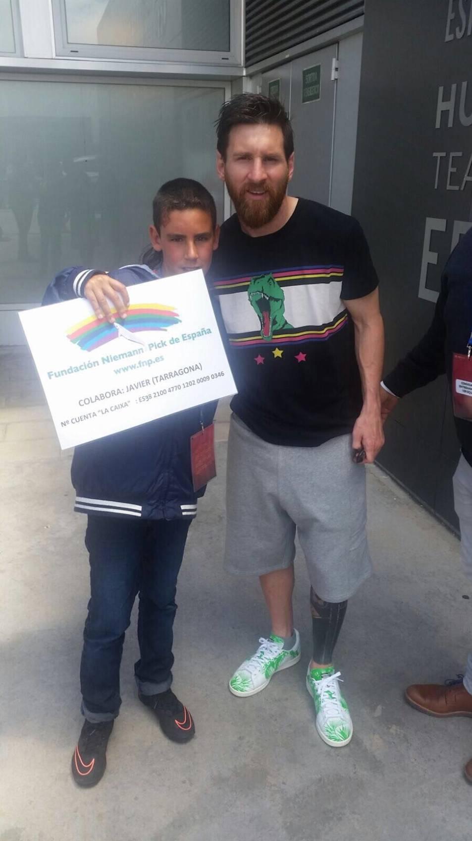 Messi, amb Javier Galera.