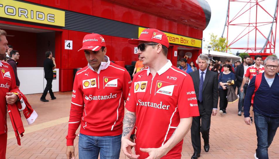 Kimi Räikkönen en PortAventura
