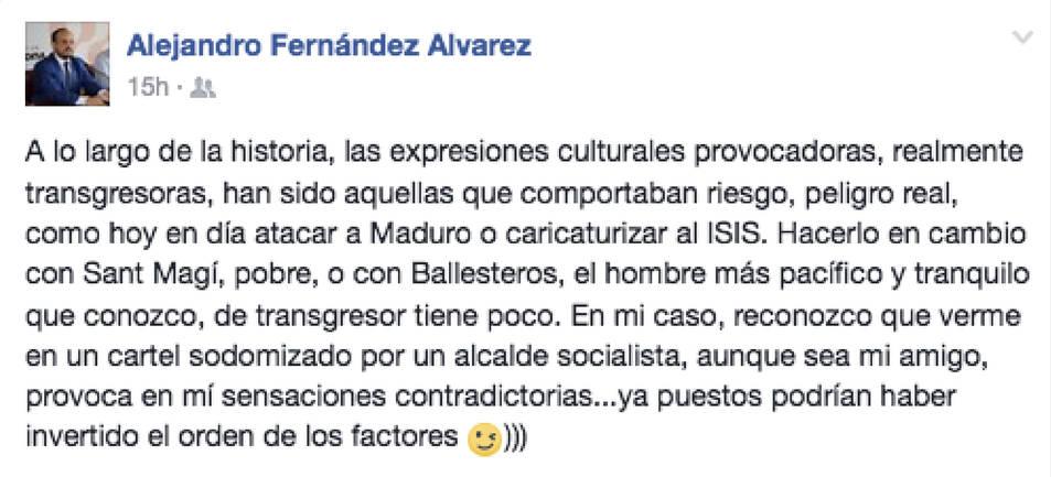 Missatge d'Alejandro Fernández sobre els polémics cartells d'Arran.