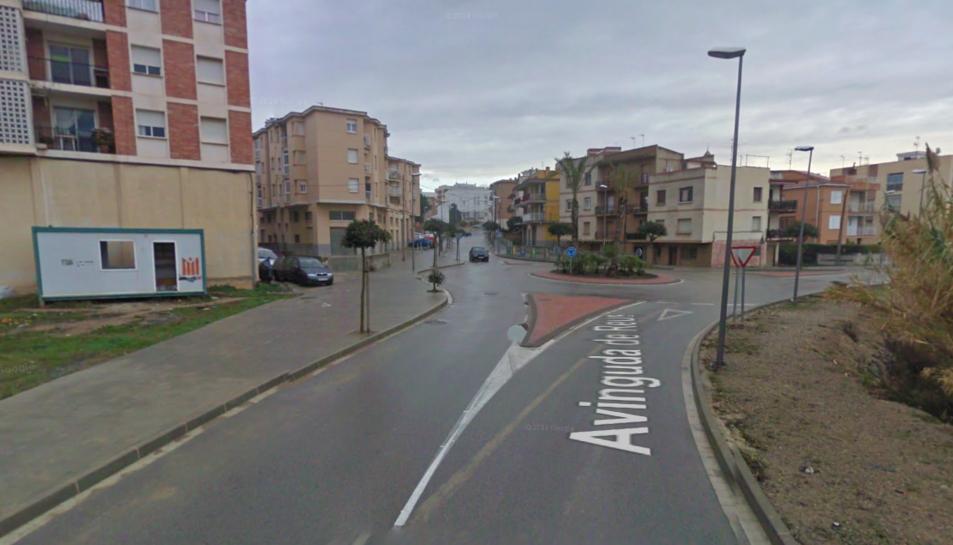 Un tram de l'Avinguda de Reus de Constantí, on van succeir els fets.