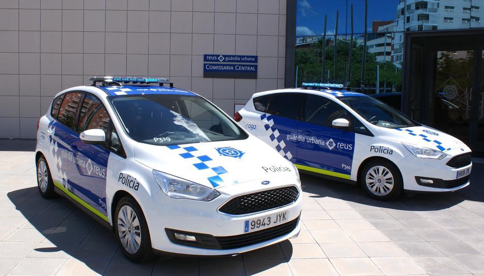 Els dos nous vehicles policials de la Guàrdia Urbana de Reus.