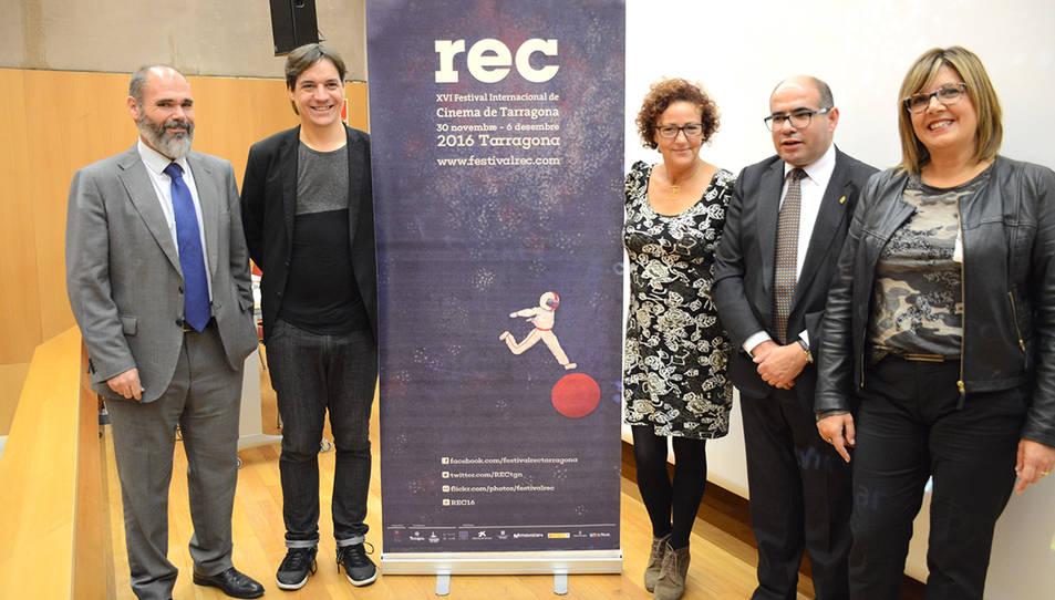 Josep Maria Prats, a la dreta, durant la presentació de l'any 2016 del Festival REC.