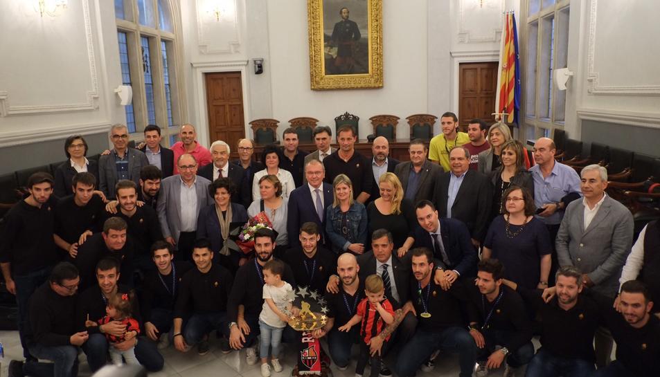 L'ajuntament reusenc ha fet la recepció oficial del campions europeus d'hoquei.