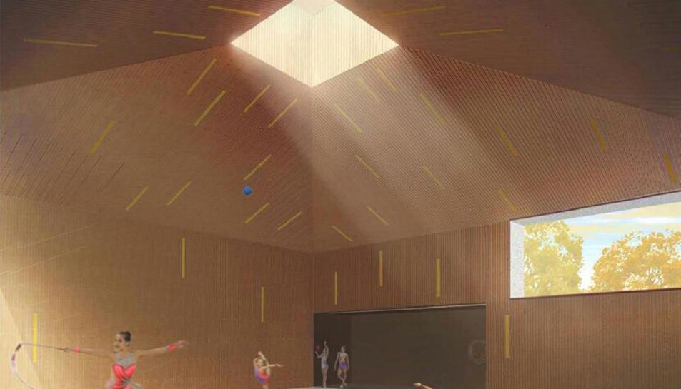 Recreació de l'interior del nou equipament, segons recull el projecte.