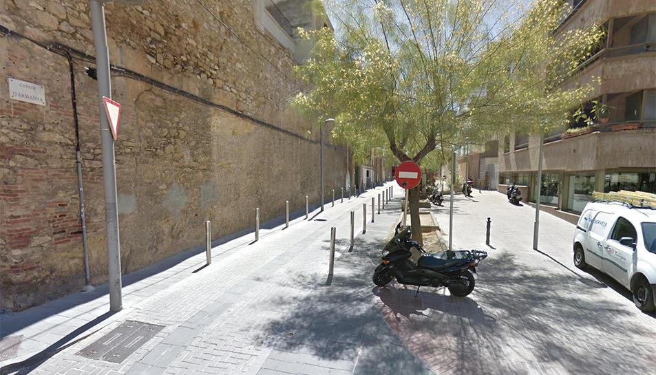 Imatge d'un tram del carrer Armanyà de Tarragona.