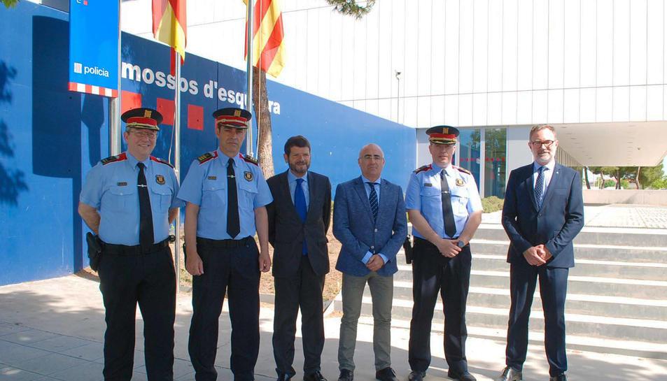 Imatge de l'acte de la presa de posessió del comissari David Boneta com a nou cap de la Regió Policial Camp de Tarragona.