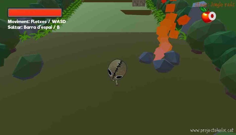 Una captura del Projecte Helix, un mini-joc de plataformes 3D.
