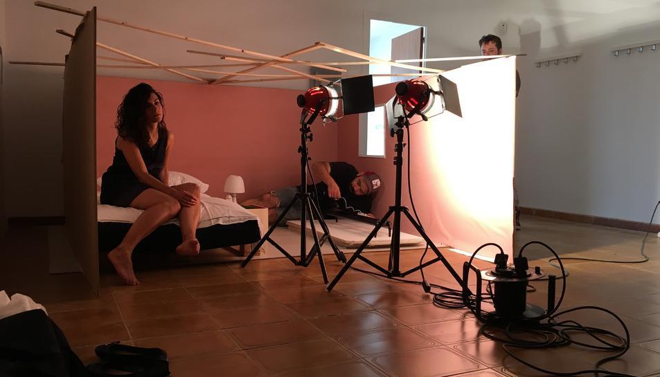 Imatge del rodatge del videoclip del segon single d'Anna d'Ivori.
