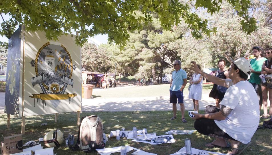 Imatge d'un taller de cultura urbana que es va dur a terme a la darrera edició del festival.