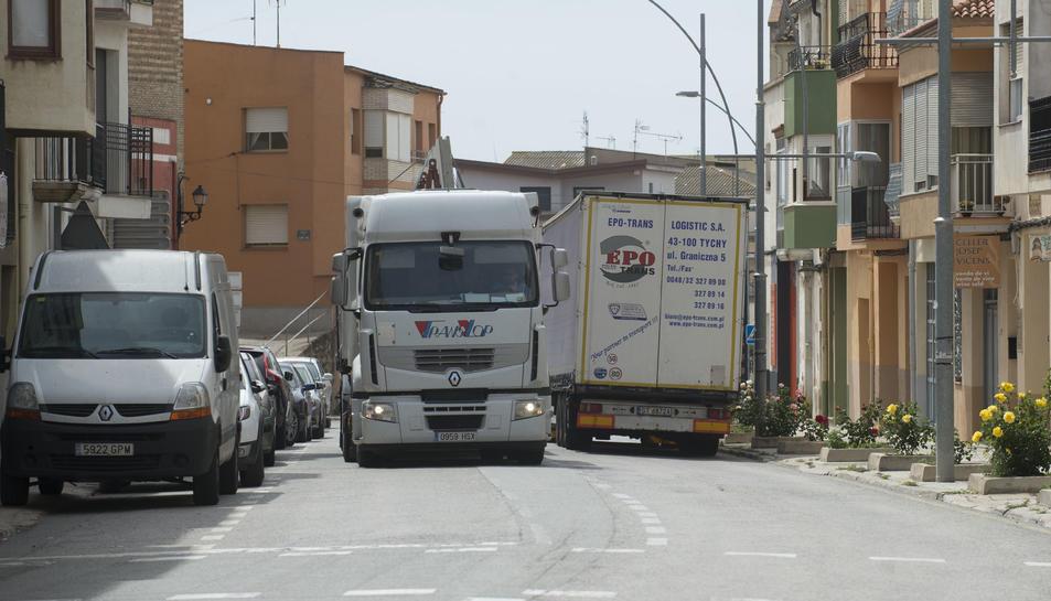 Imatge de la travessia urbana de Gandesa.