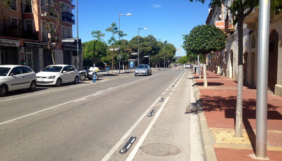 L'Avinguda Marquès de Tamarit és la que combina millor el seu ús per a vianants i per a vehicles.