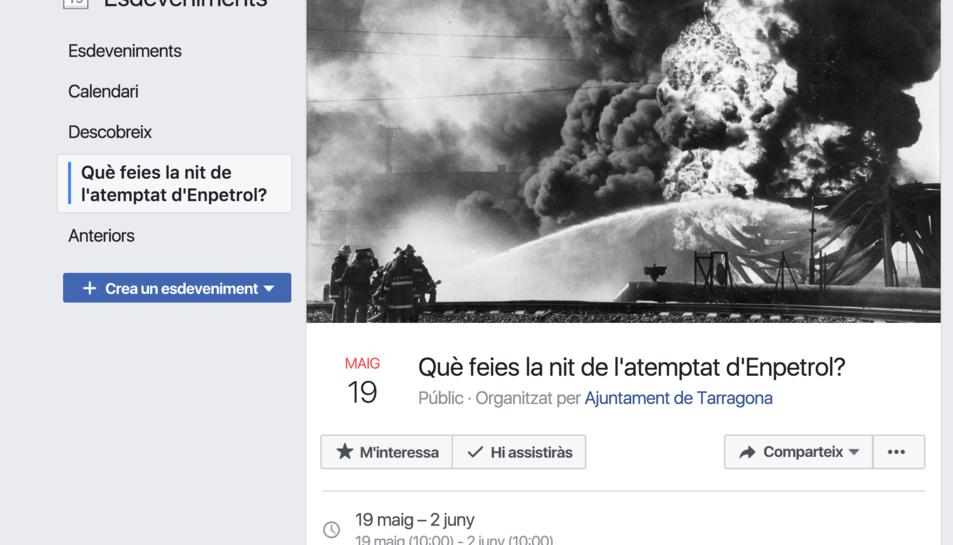 La crida per aconseguir testimonis s'ha fet a través d'un esdeveniment de Facebook.