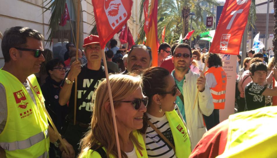 Alguns dels manifestants.