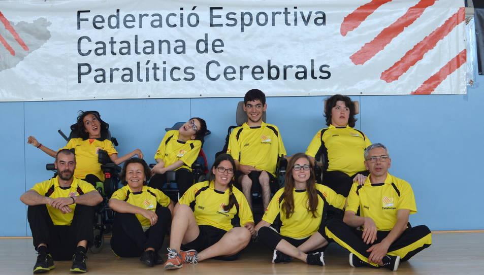 Els joves esportistes de la Federació Catalana.