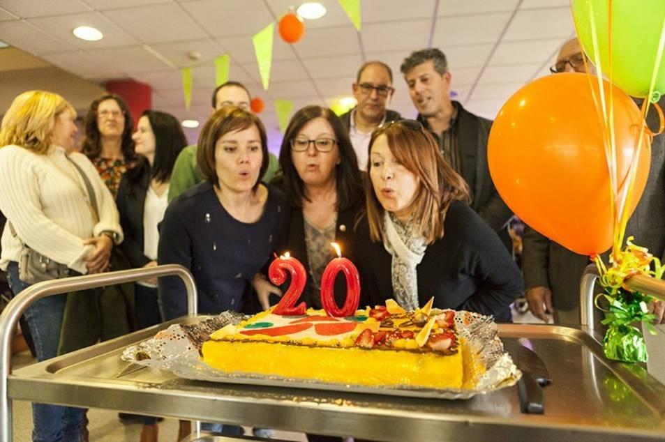 Imatge de la festa d'aniversari de l'equipament al febrer.