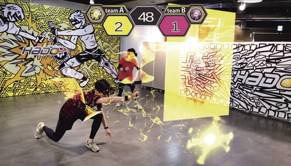 Una mostra del que es veu al joc HADO.