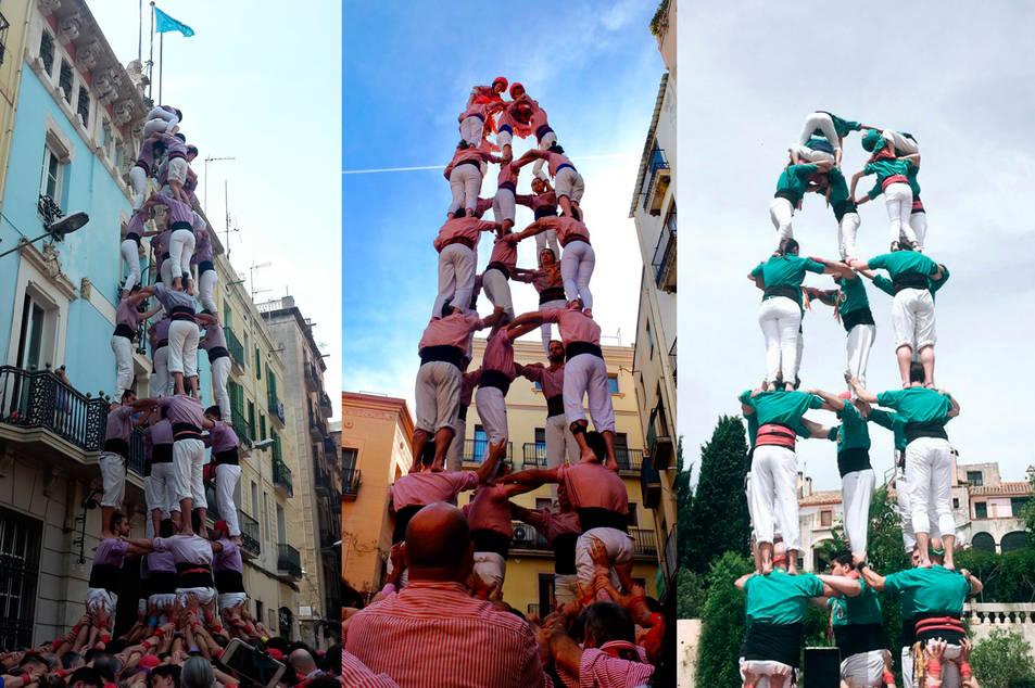El 5 de 8 descarregat per la Jove a Gràcia, el 5 de 8 dels Xiquets descarregat a Valls, i el 5 de 7 de Sant Pere i Sant Pau a Altafulla.