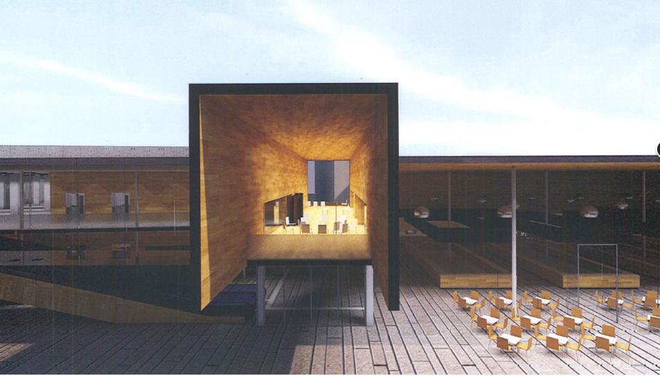 Imatge de la façana que recull l'avantprojecte de remodelació del Mercat Municipal.