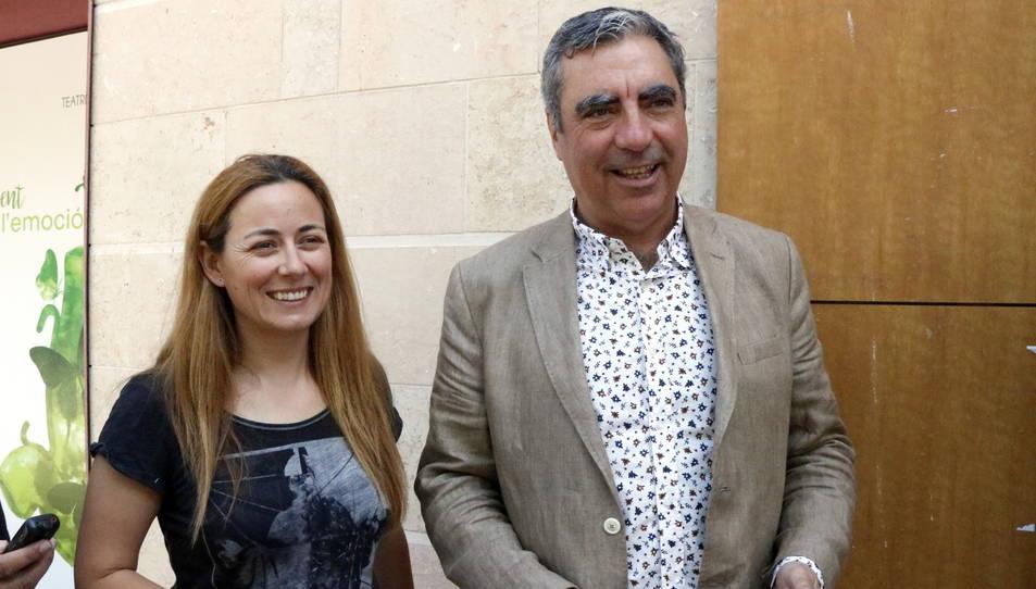 Els regidors del PDeCAT a l'Ajuntament de Tarragona, Albert Abelló i Cristina Guzmán, aquest dimarts.
