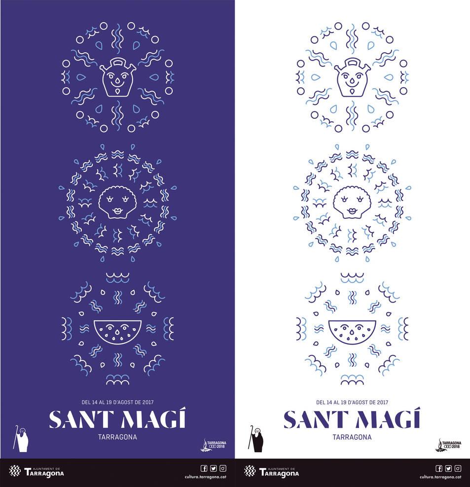 El cartell guanyador en les dues versions de color que s'utilitzaran.