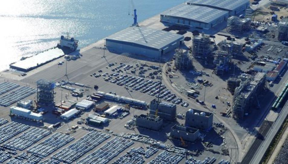 Panoràmica aèria general del Port de Tarragona, publicada el 10 de febrer del 2017.