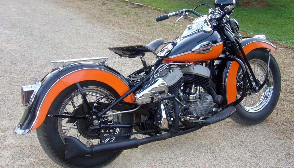 Imatge d'arxiu d'una Harley Davidson, un dels tipus de motos que es veuran a la trobada.