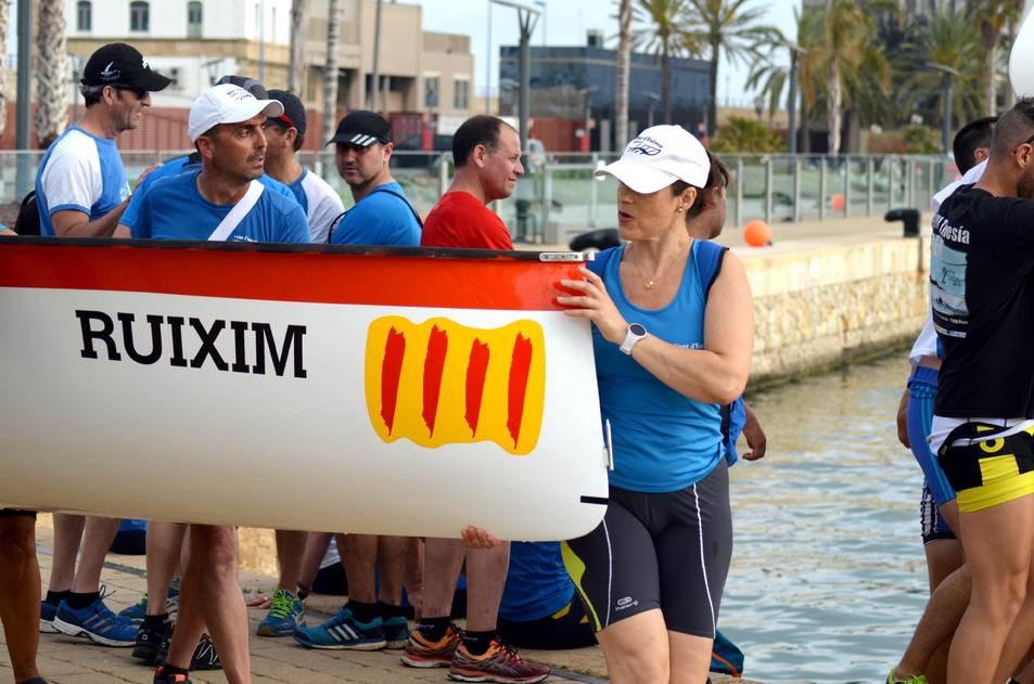 Entrenaments pel Campionat d'Espanya de Llaüt Mediterrani