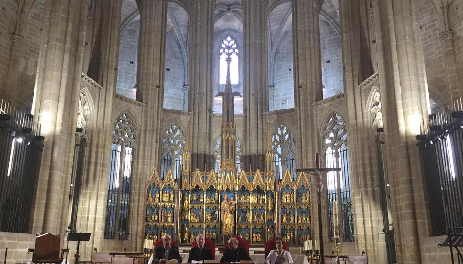La Catedral de Tortosa amb la nova il·luminació. Imatge del 26 de maig del 2017