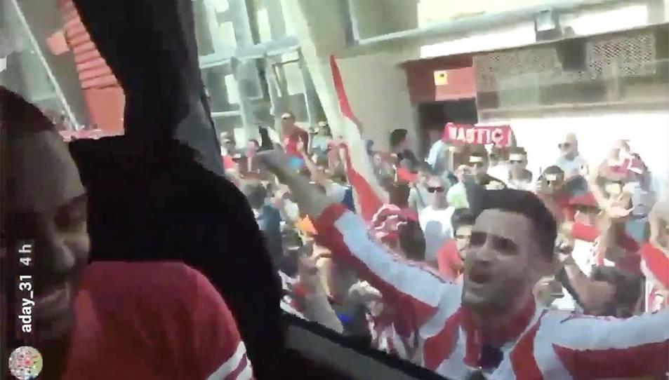 Captura d'imatge del vídeo amb els polèmics comentaris d'Aday.