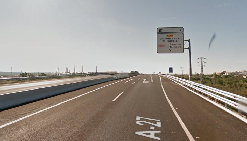 L'accident ha tingut lloc a l'A-27 a l'alçada de la Pobla de Mafumet.