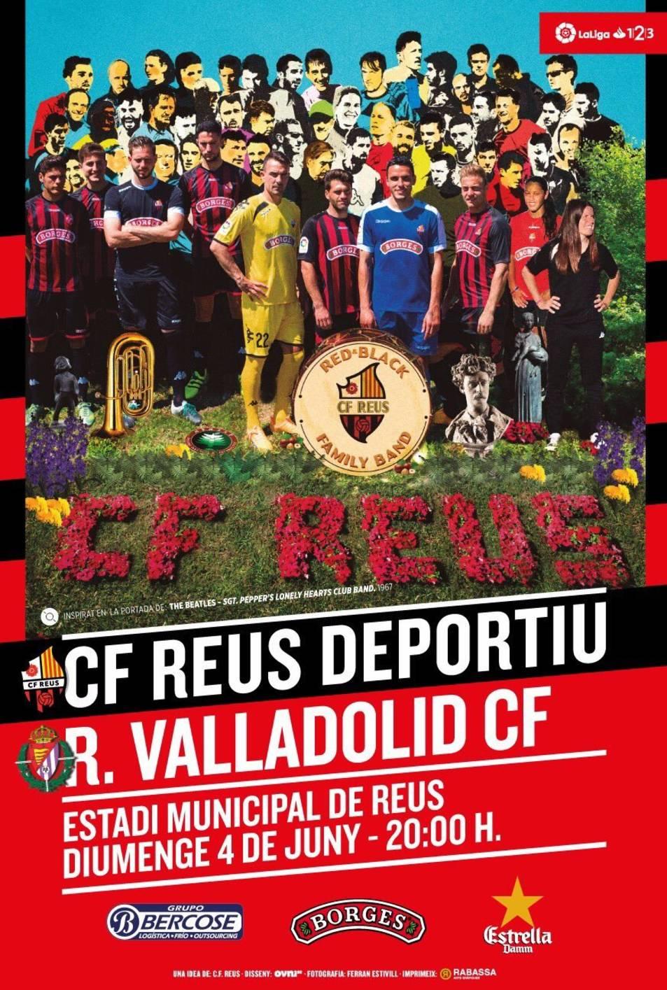 El cartell del CF Reus-Valladolid.