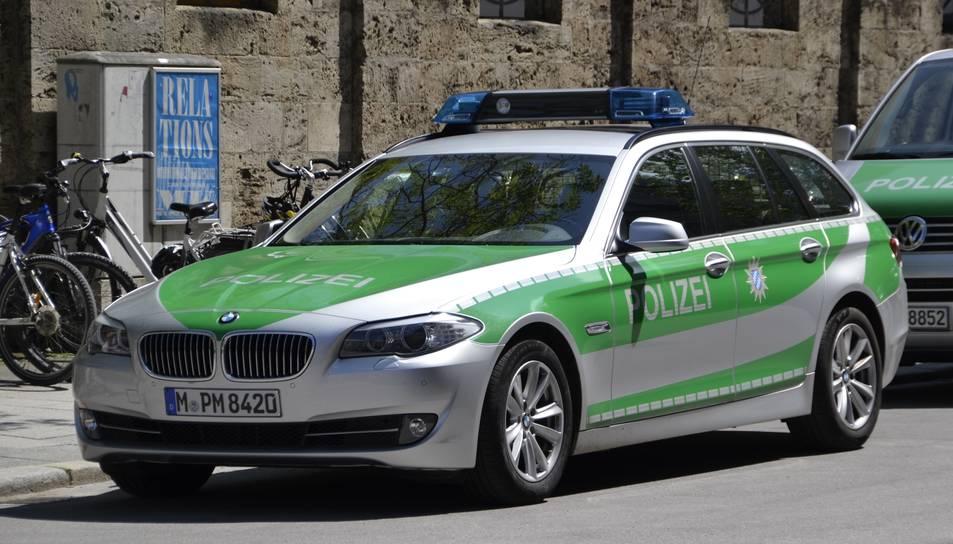 Un cotxe de la policia alemanya en una imatge d'arxiu.