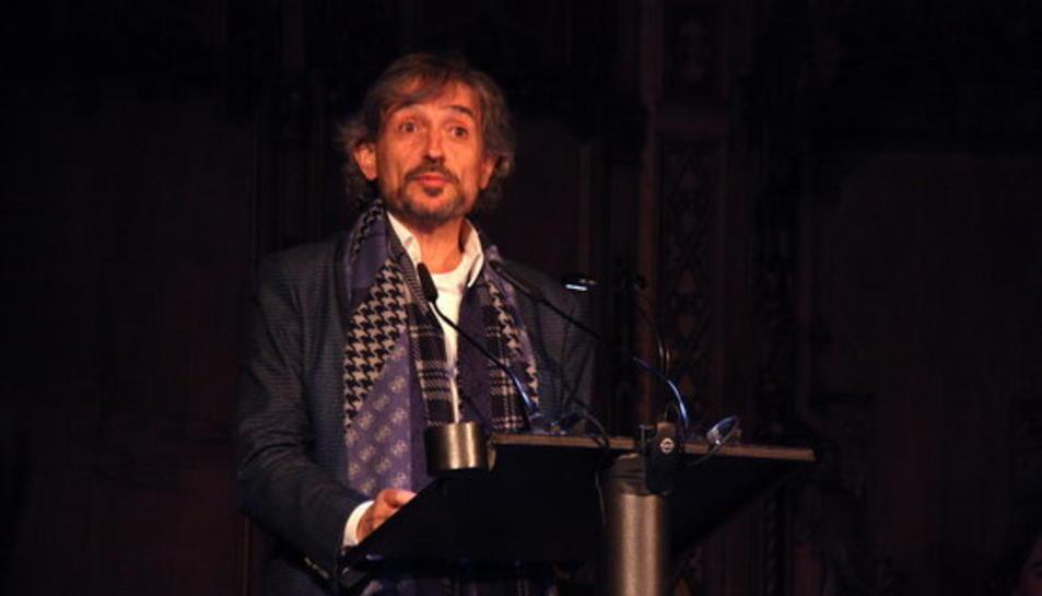 El periodista Carles Capdevila després de rebre el Premi Ciutat de Barcelona, el 15 de febrer del 2016